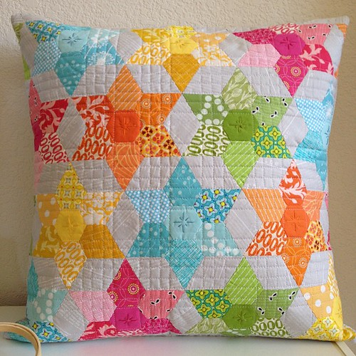 PTS round 8 finished. Shown with 20x20 inch pillow form | by Sew-Fantastic
