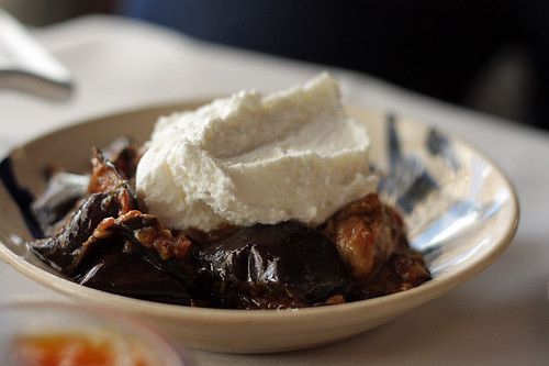 eggplant with whipped cheese | by David Lebovitz
