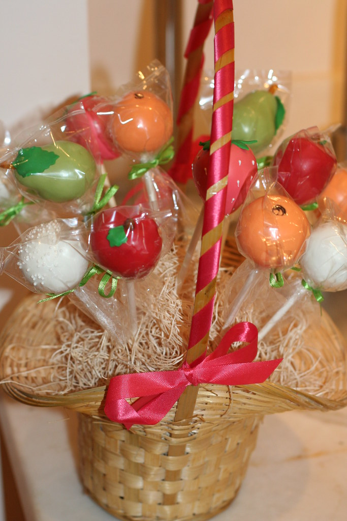 How To Display Cake Pops In A Basket