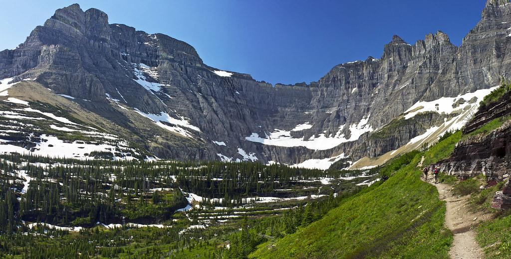 Iceberg Lake Trail 2 | This is a three shot pano of the trai
