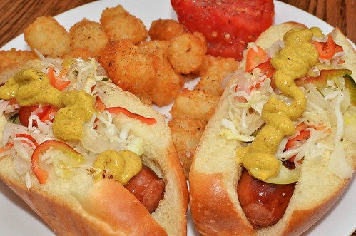 Mmm... dogs 'n' tots | by jeffreyw