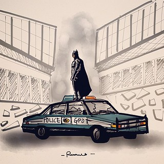 - 'The Legend Ends'  #madewithpaper #TheDarkKnightRises - | by Rames Studios