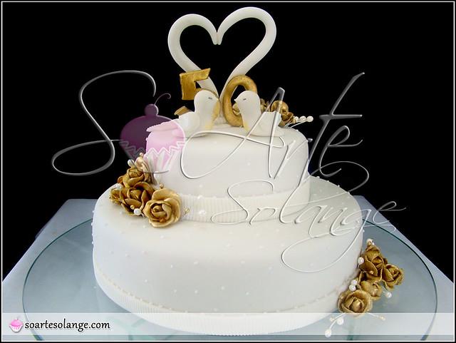 Bolo decorado bodas de ouro 50 anos de casados - Regalos 50 anos de casados ...