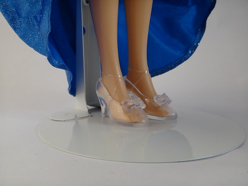 2012 Disney Store Singing Princess Dolls - Cinderella Deboxed - Lifting Skirt - Closeup of Shoes | by drj1828