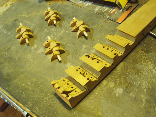 Eight hours in, a couple pairs of roughed out hinges... | by Littlecope