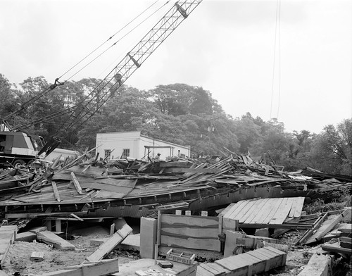 Crane Removes Debris | by The Library of Virginia