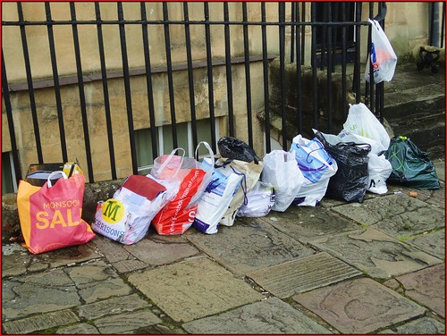 Bath ... plastic bag selection. | by bazzadarambler