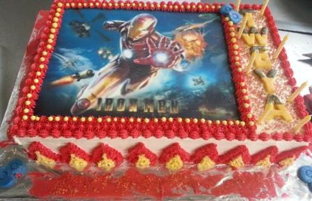 Iron Man Sheet Cake