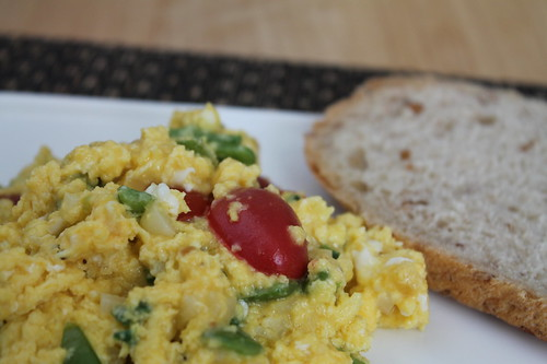 Jalapeno and Cheddar Scramble with Tomatoes and Peppers | by Tom Ipri