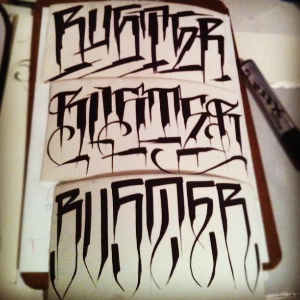 School Letters Tattoo