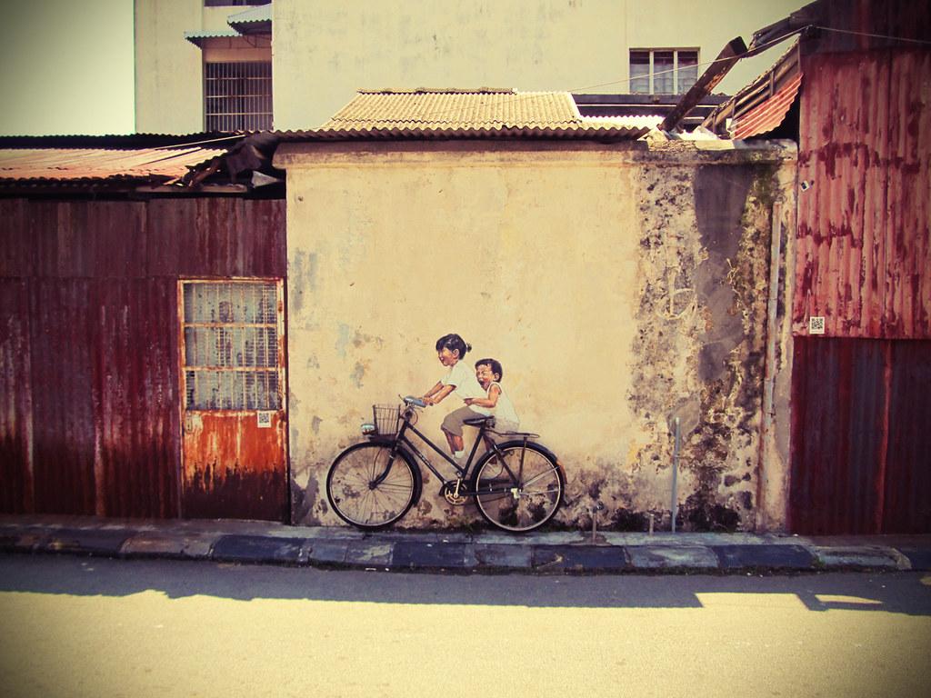 Penang Street Art | The famous wall painting at Armenian Str… | Flickr