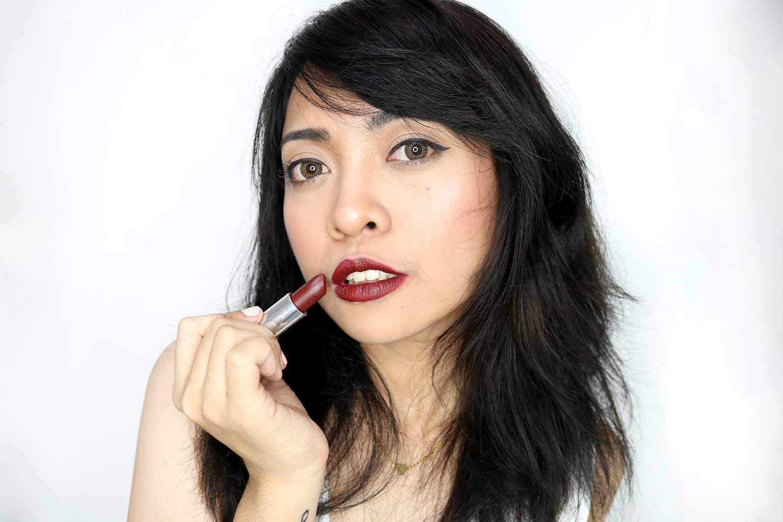 9 Maybelline Creamy Matte Brown Nudes Collection Burgundy Blush Review Swatches - Gen-zel.com (c)