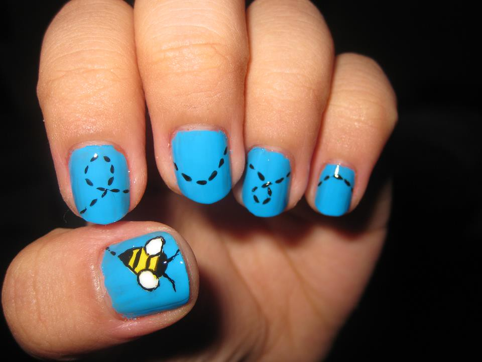 Nail Art Design Bumble Bee Katikuykuy Flickr