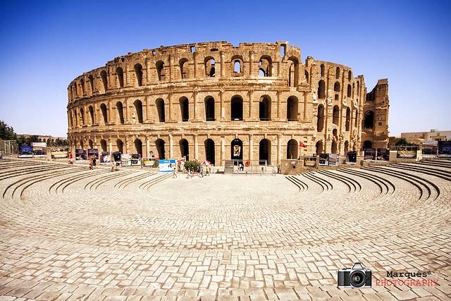 Anfiteatro romano de El Jem, Túnez  Flickr - Photo Sharing!