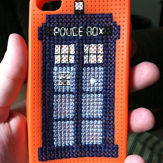 Finished my iPhone case with a #doctorwho #tardis.  I can not wait to show it off in the morning. | by Beetastic