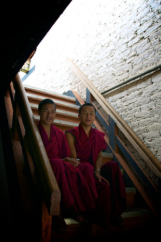 Monks at Punakha Dzong | by Katya_N