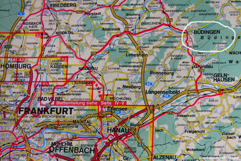Budingen Germany Map.Map Of Location Of Budingen Medieval Walled Village Wette Flickr