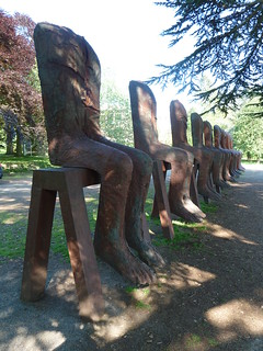 Ten Seated Figures 2010 by Magdalena Abakanovicz Yorkshire Sculpture Park West Bretton Wakefield Yorkshire | by woodytyke