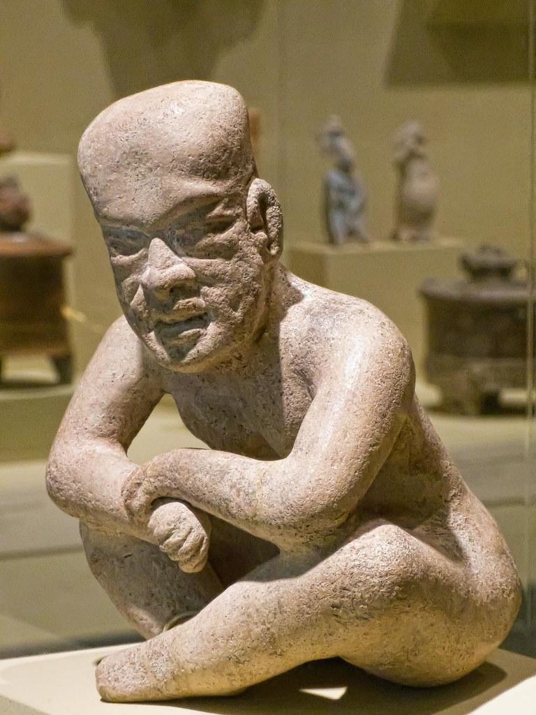 seated figure olmec mexico 900 bce400 ce ceramic