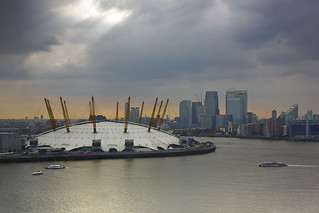 The O2 from the Emirates Airline cable car | by Fergus McNeill