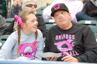 These fans were jazzed for OmaHogs night! | by Minda Haas