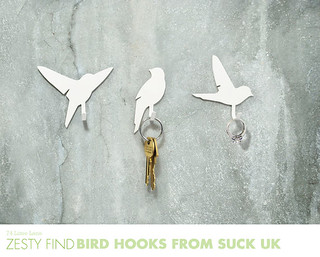 {zesty find} bird hooks from SUCK UK | by 74 Lime Lane