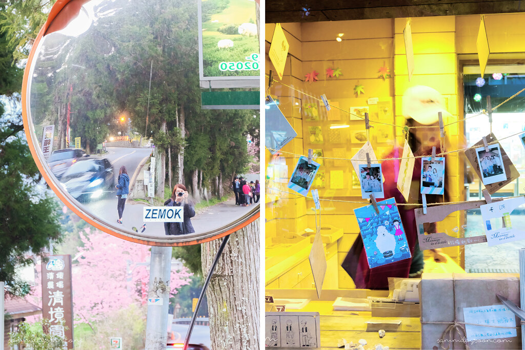 cingjing farm road selfie and post cards