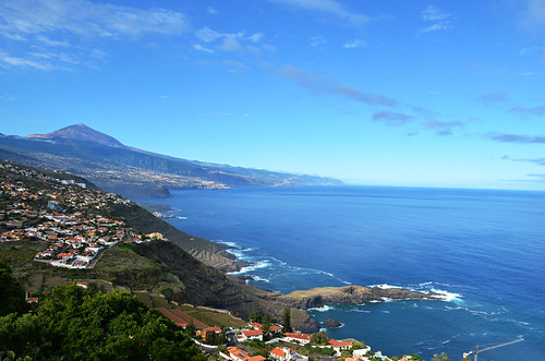 Mount Teide and north coast in September, Tenerife