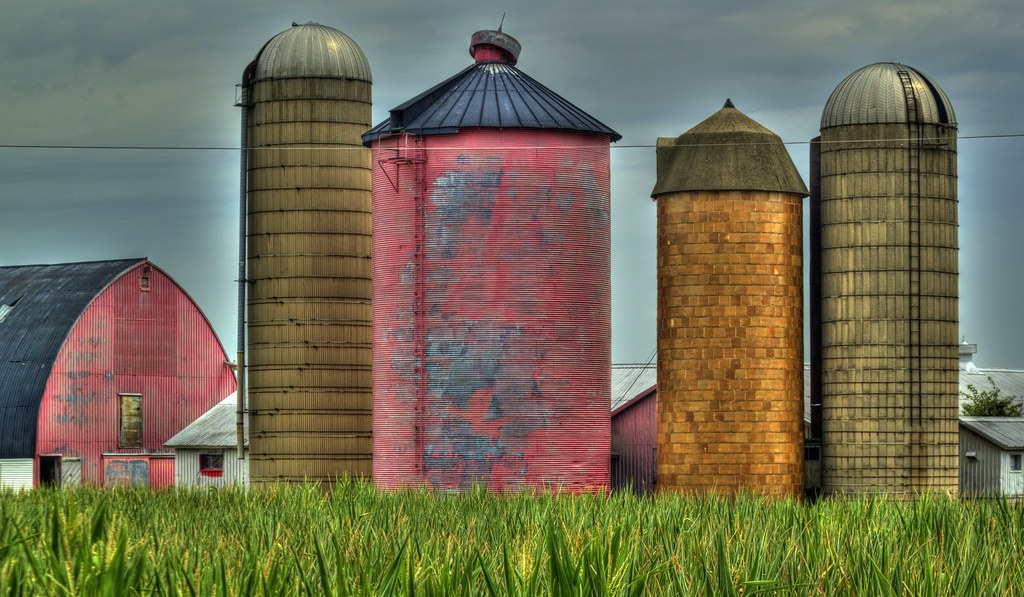 pink grain bin barn tile silo unusual color for a