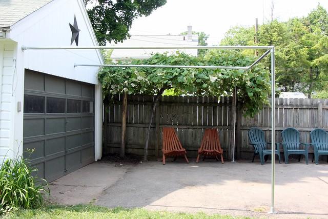 how to build a grape trellis backyard