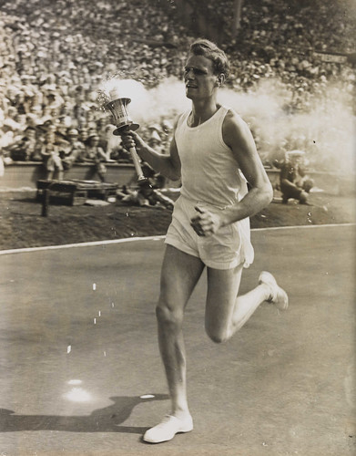 John Mark Olympic Torch Bearer, London, 1948. | by National Media Museum