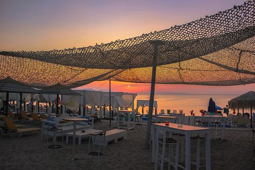 Sunset from the beach bar | by Vagelis Pikoulas