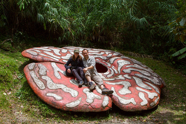 Sitting On The Biggest Flower In The World On Our