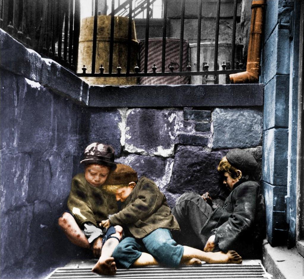 Homeless Boy Gets Bedroom For Christmas: Children Sleeping In Mulberry Street (Street Arabs In Slee