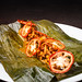 Steamed chanterelle mushrooms with epazote, achiote, and tamal colado 02