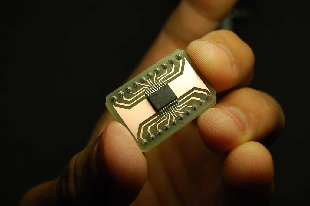 Ade7753 Breakout Etched Using Photo Sensitive Copper