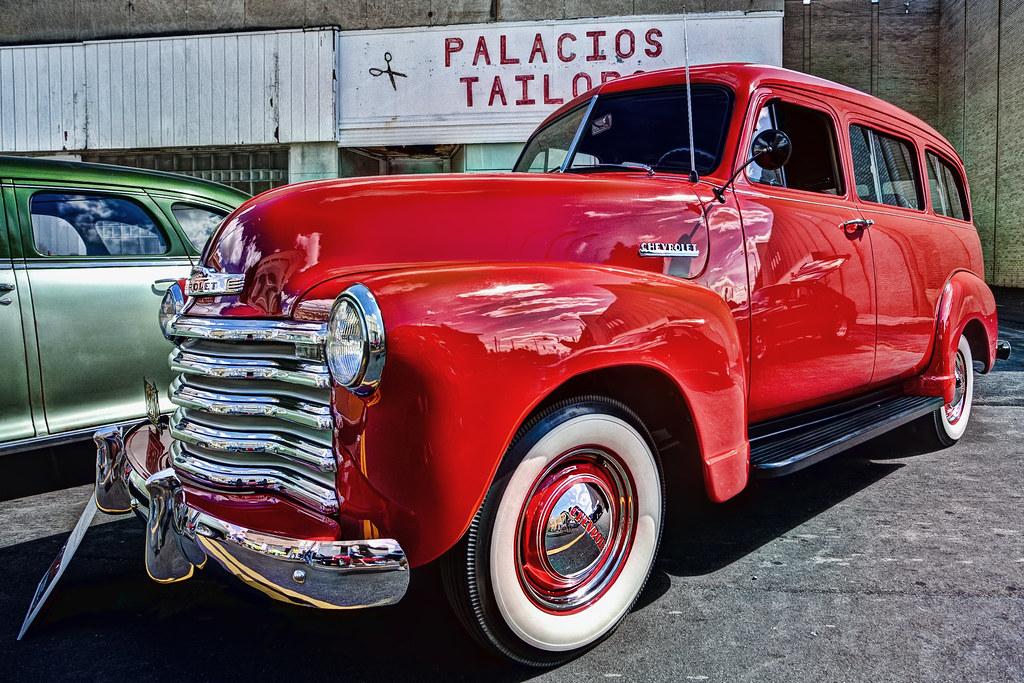 Red Chevrolet HDR Back To The Bricks Car Show Flint - Thomas chevrolet car show