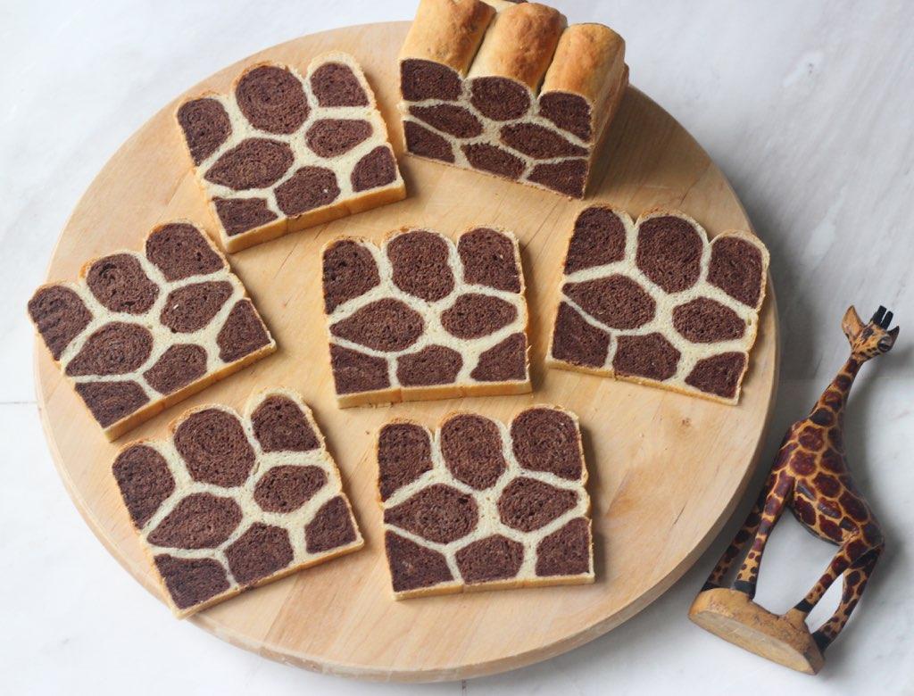 Dark chocolate giraffe bread loaf | Recipe adapted from ...