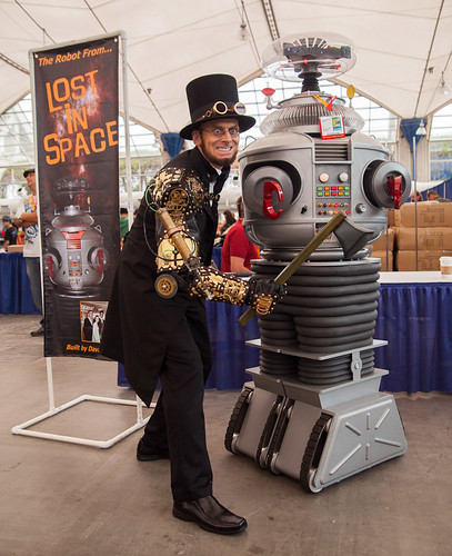 Steampunk Abraham Lincoln Vampire Hunter and Lost In Space Robot 2 | by uncle_shoggoth