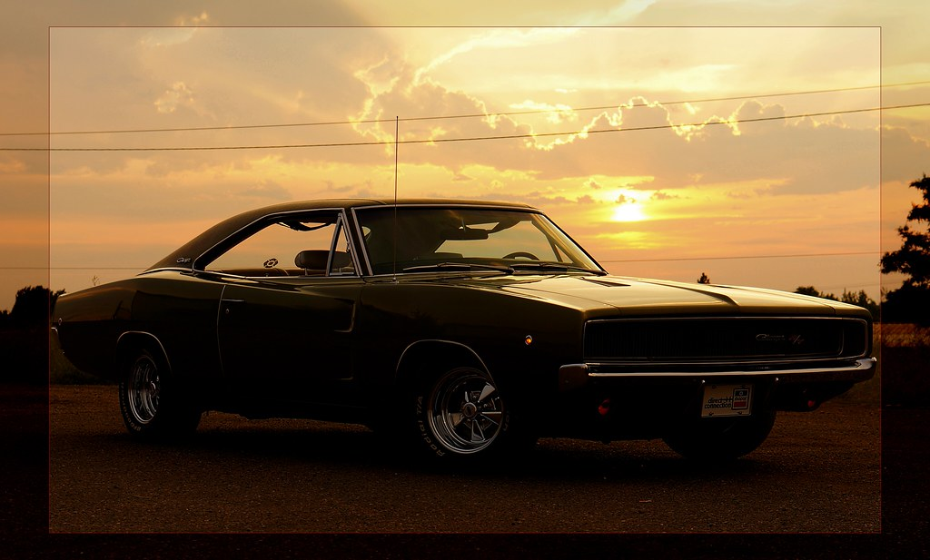 1968 Dodge Charger R/T - Sunset Grill | With apologies to Do… | Flickr