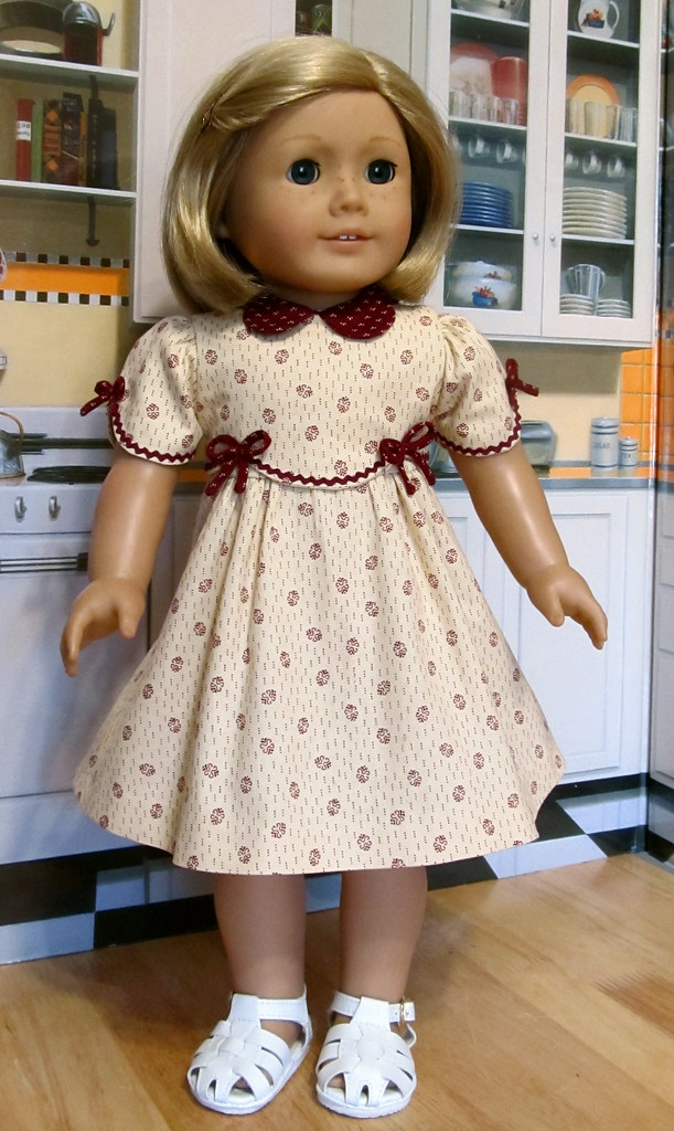 1930s frock made to fit 18quot american girl doll kit or r