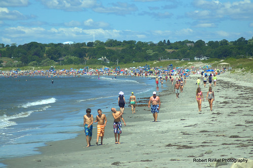 Sachuest Beach. Middletown, Rhode Island, USA. Beautiful July sunshine, sand, people, and water. | by robert.rinkel