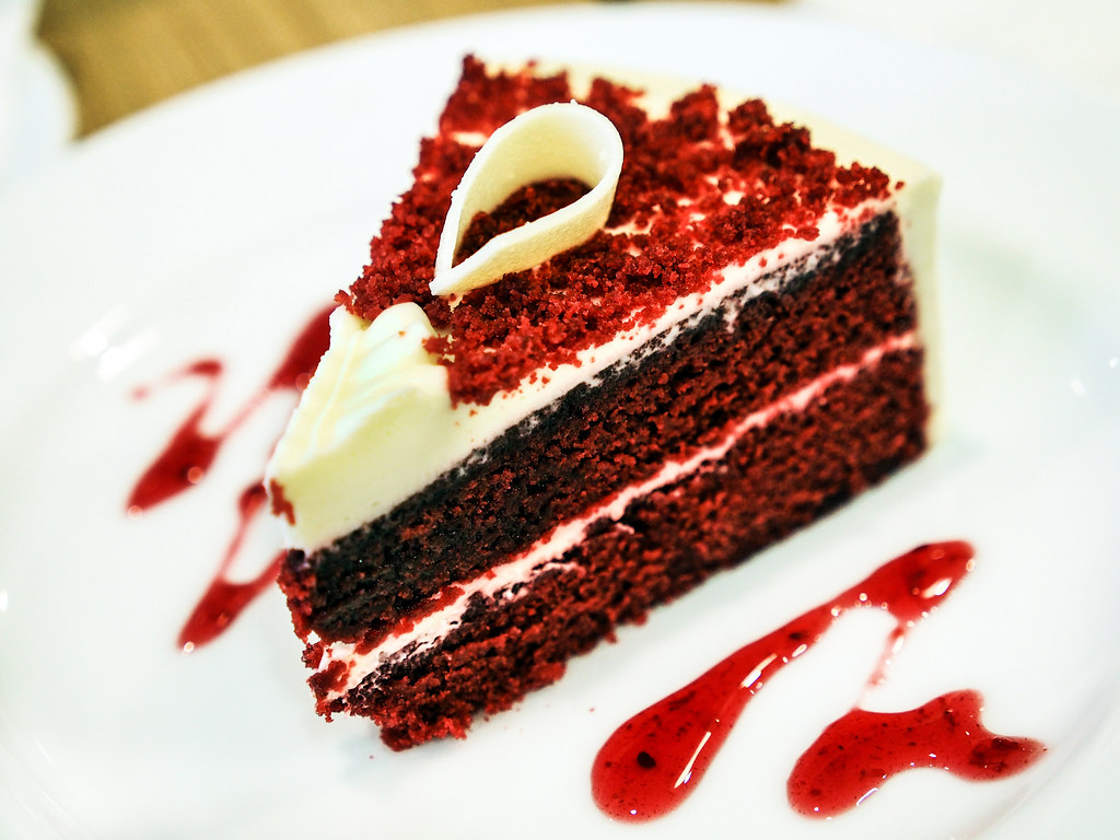 Red Velvet Cake Slice Red Ribbon