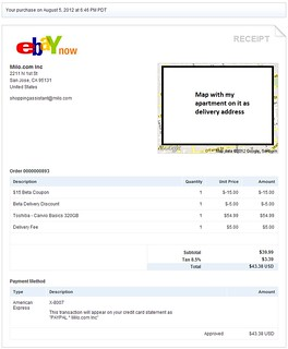 ebay Now receipt | by asmythie