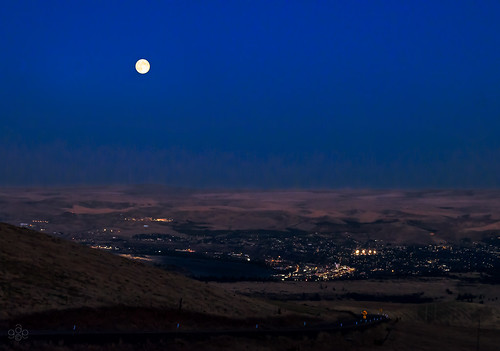 Full moon over The Dalles | by GeorgeOfTheGorge