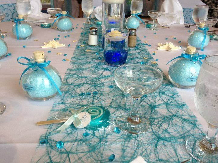 Victor And Socorros April 21 2012 Blue Wedding Table Deco Flickr