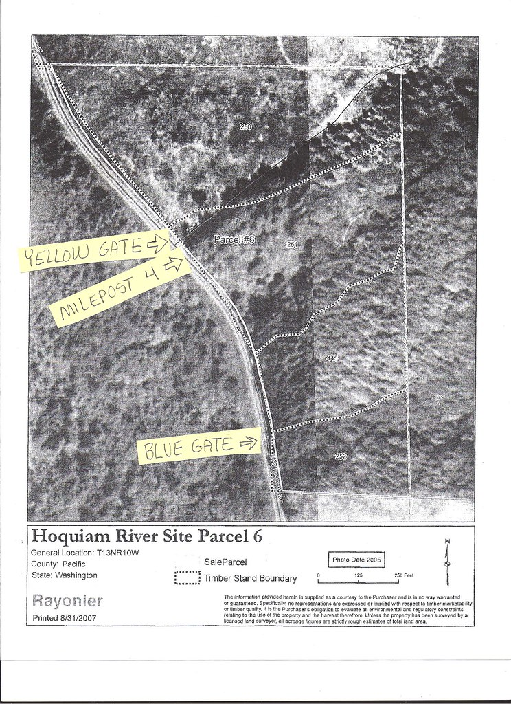 Property at mile marker 4 | All four sections inside the dot