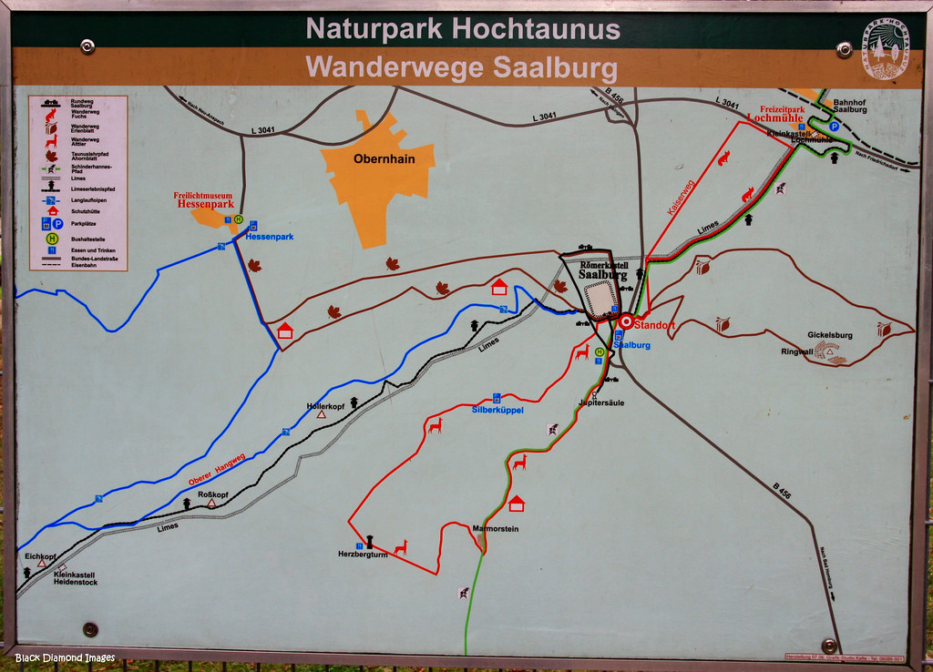 Bad Homburg Germany Map.Map Of Saalburg Roman Fortress And Limes Unesco World Cul Flickr
