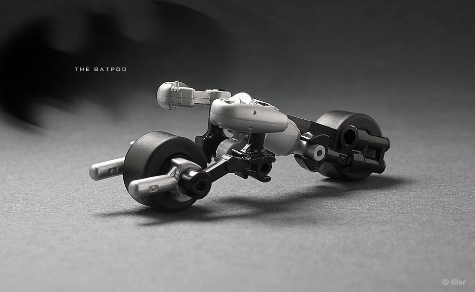 Lego Mini Batpod Well I Just Couldnt Resist The Tempta Flickr