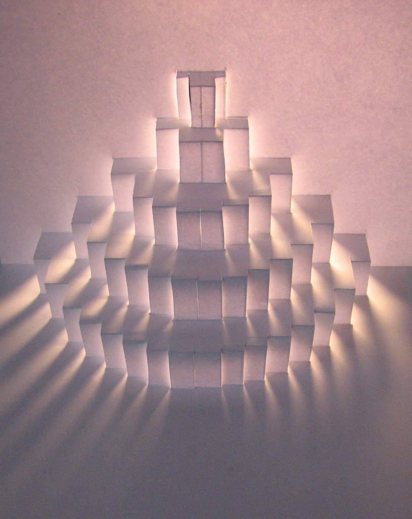 Pop-up Ziggurat | learning pop-up techniques. From an ...
